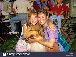 Dee Wallace With Lassie And Wendy Cox 1989. 1st July, 2008. - © Roger Stock  Photo - Alamy