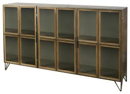 wooden and glass doors on a metal frame