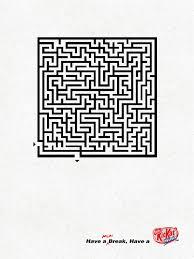 Print ad: Kit Kat: Maze