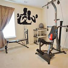 Amazon Com Wall Sticker Family Diy Decor Art Stickers Home Decor Wall Art Weight Lifting Girl With A Trainer For Gym Room Home Kitchen