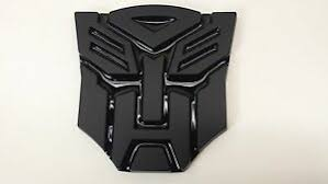 Black 3d Autobot 4 Inch Transformers Emblem Badge Decal Car Stickers Truck Ebay