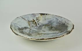 Adela Powell 3. River Bowl (Silver Valley) side view 7 x 38 cm £495    Sladers Yard
