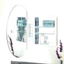 beveled mirror medicine cabinet oval