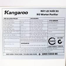 Máy Lọc Nước RO Kangaroo KG19G4MK vỏ VTU (dành cho nước phèn ...