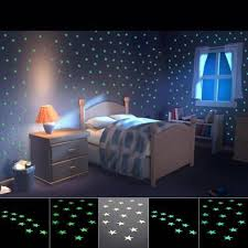 100pcs Home Wall Light Green Glow In The Dark Star Stickers Decal Baby Room Provide Your Baby A Bright Blue Sky A Sweet Dream Buy At The Price Of 1 80 In