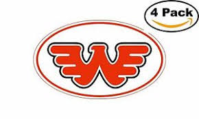 Waylon Jennings Red Oval Flying W Decal Vinyl Sticker 4 Stickers Ebay