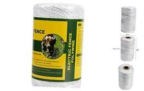 Farmily Portable Electric Fence Polywire 656 Feet 200 Meter 6 Conductors Whit For Sale Online