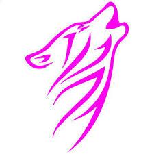 Tribal Howling Wolf V1 5 Hot Pink Vinyl Decal Window Sticker Ebay