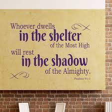 Psalms 91 1 Wall Decal Scripture Divine Walls