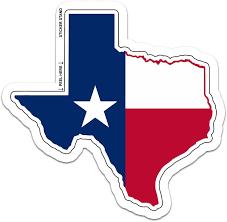 Amazon Com Texas State Map Flag Large Car Window Sticker Decal 10 X 10 Automotive
