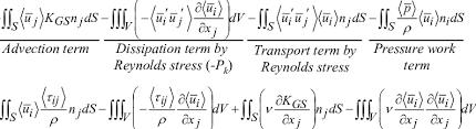 equations for kinetic energy balance of
