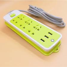 Ổ cắm điện 6 phích cắm 3 cổng USB - Ổ cắm điện Thương hiệu OEM