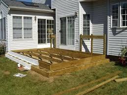 deck plans floating wood patio designs