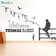 Western Cowboy Decal Southwestern Living Room Bedroom Home Apartment Decor Removable Vinyl Wall Sticker Bb721 Wall Stickers Aliexpress