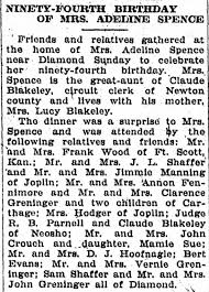 Adeline Bryant (Spence) 94th b-day - Newspapers.com