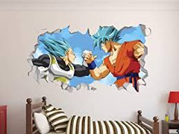 Amazon Com Dragon Ball Wall Stickers Murals Paint Wall Treatments Supplies Tools Home Improvement