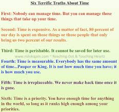 terrific truths about time inspirational quotes