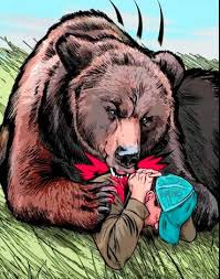 Image result for भालू का खेत जाते समय हमला