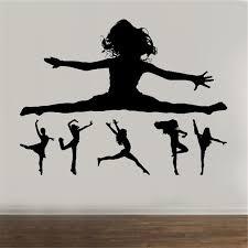 Gymnastic Wall Decal Dance Girl Silhouette Vinyl Girl Room Decor Ballet Wall Art Home Decor Art Decor Wall Sticker U911 Wall Stickers Aliexpress