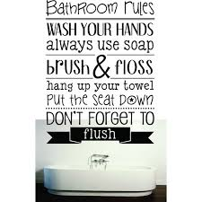 Custom Decals Bathroom Rules Wash Your Hands Use Soap Brush Floss Put The Seat Down Don T Forget To Flush Quote 20x30 Walmart Com Walmart Com