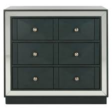 glacaeu 3 drawer mirrored accent chest