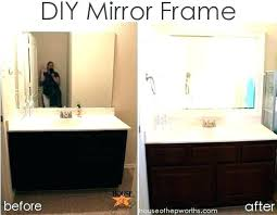 bathroom mirror edging