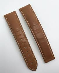authentic omega watch strap 18mm brown