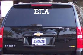 Sigma Pi Alpha Car Decal Greek Letters Greek Apparel And Hobbies