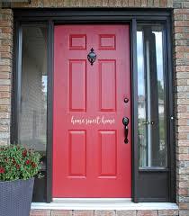 Home Sweet Home Door Decal Front Door Entryway House Etsy