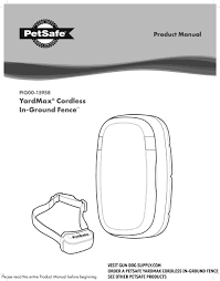 Petsafe Yardmax Cordless In Ground Fence Product Manual Pdf Download Manualslib