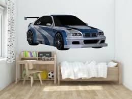 Bmw M3 Nfs Wall Decal Vinyl Racing Decor Room Luxury M Power Ebay