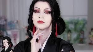 muzan cosplay makeup tutorial demon