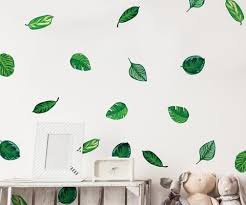 Tropical Plant Leaves Wall Decal Hawaiian Party Beach Theme Decor Great For Birthdays Prom Wedding Events 6094 Stickerbrand