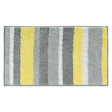 microfiber stripz bath rug in yellow