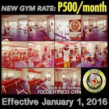 focus fitness gym philippines free