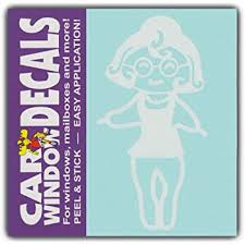 Amazon Com Car Window Decals Grandma Grandmother Family Stick Figures Stickers Automotive