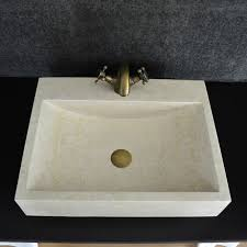 beige marble bathroom vessel sink
