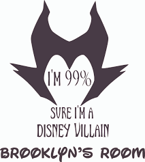 Design With Vinyl Maleficent Sure Villain Cartoon Wall Decal Wayfair