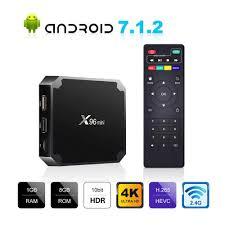 Android Smart TV Box X96 Mini AMLgoic S905W Smart Set Top TV Box 2G/16G 4K  WIFI 2.4G France IPTV Smart Box X96 Mini Belgium IPTV 