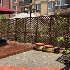 Anticorrosive Wood Fence Fence Outdoor Fence Garden Fence Grid Decoration Courtyard Balcony Guardrail Plant Climbing Frame