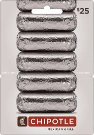 chipotle 25 gift card chipotle 25