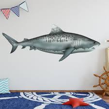 Vwaq Tiger Shark Vinyl Decal Ocean Animals Wall Stickers Na03