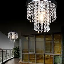 led crystal droplet ceiling light