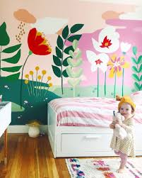 Whimsical Mural For The Girls Bedroom This Little Street This Little Street Kids Room Murals Girl Room Kids Room Wall