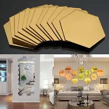removable wall sticker 3d mirror tile