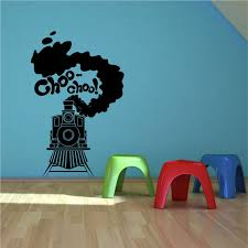 Steam Train Toy Track Boys Bedroom Wall Art Sticker Decal Transfer Stencil Mural Ebay