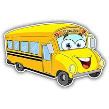 Amazon Com Magnet Bus Funny Cartoon School Bus Window Truck Car Vinyl Flexible Magnet Magnetic Bumper Sticker 5 X 3 Home Kitchen