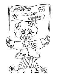 Kleuren Nu Clown Kleurplaat Voor Papa Kleurplaten