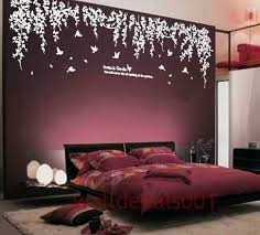 Dark Purple Room Good Idea With Green Leaves Instead Of White Home Decor Home Design