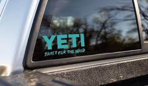 Yeti Built For The Wild Decal Trenz Shirt Company